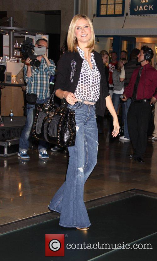Heidi Klum filming 'Germany's Next Top Model' at...