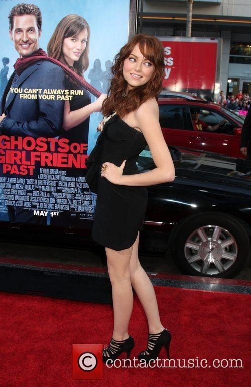 Emma Stone arriving at the Ghost of Girlfriends...