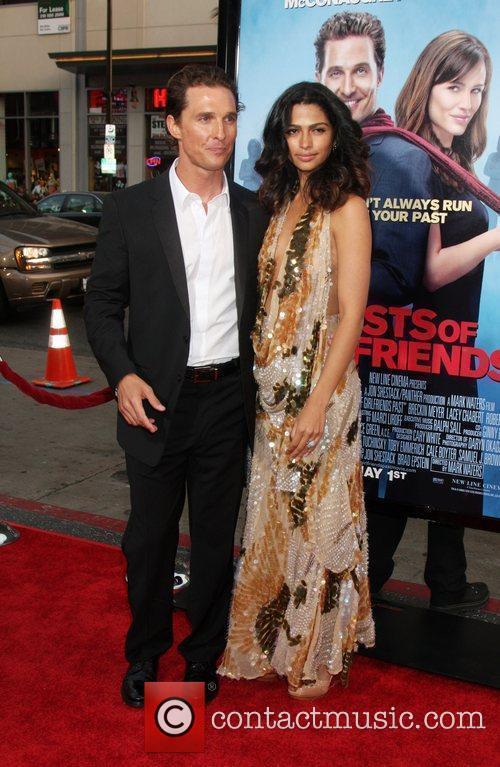 Matthew McConaughey & Camila Alves arriving at the...