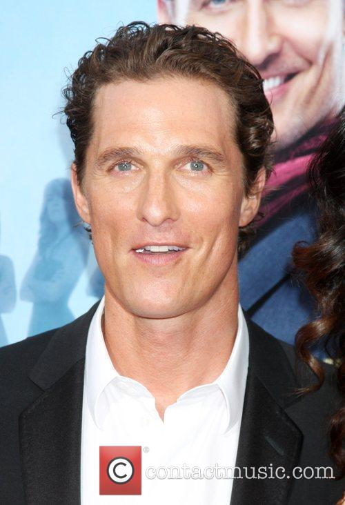 Matthew McConaughey arriving at the Ghost of Girlfriends...