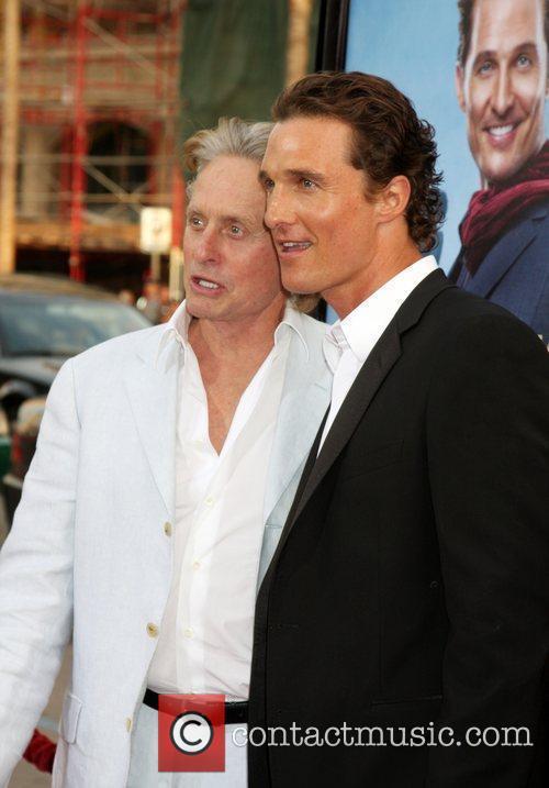 Michael Douglas & Matthew McConaughey arriving at the...