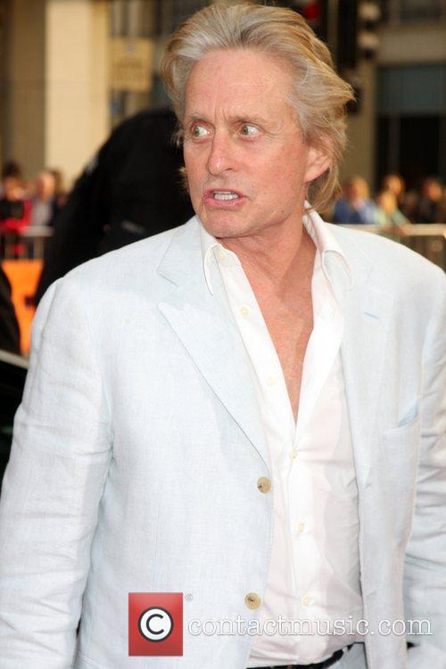 Michael Douglas arriving at the Ghost of Girlfriends...