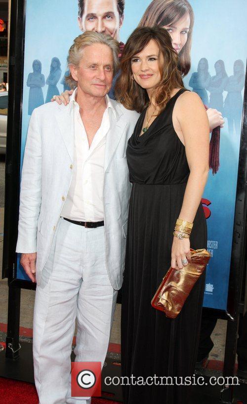 Michael Douglas & Jennifer Garner arriving at the...