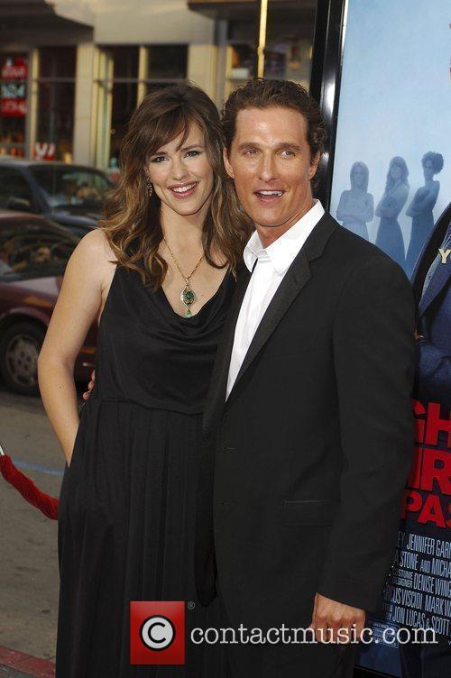Jennifer Garner and Matthew McConaughey arriving at the...