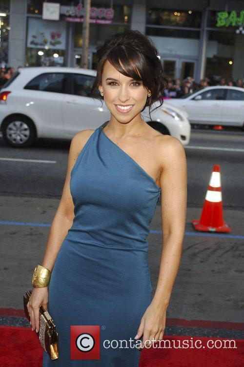 Lacey Chambert arriving at the Ghost of Girlfriends...