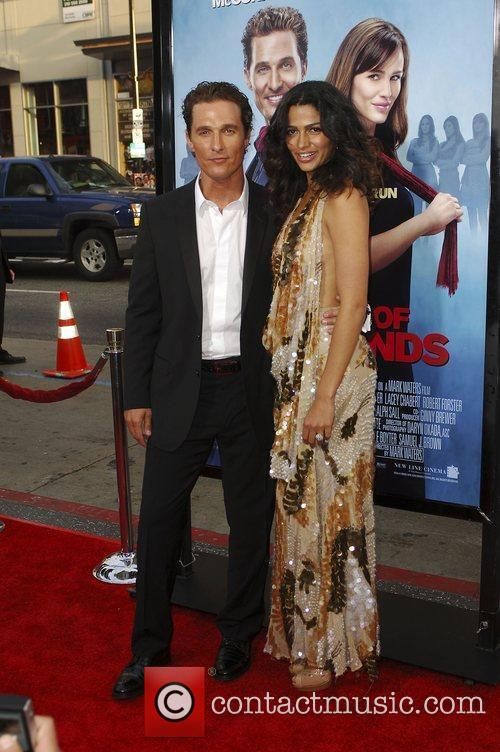 Matthew McConaughey and Camila Alves arriving at the...