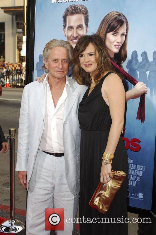 Michael Douglas and Jennifer Garner arriving at the...
