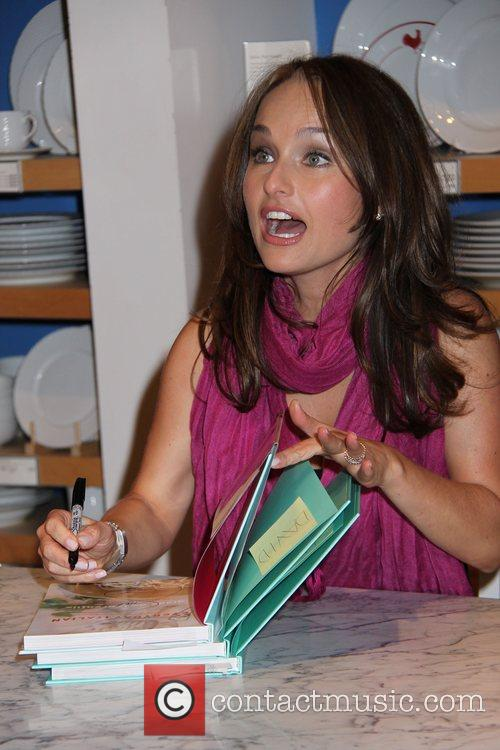 Giada DeLaurantiis signs copies of her new book...