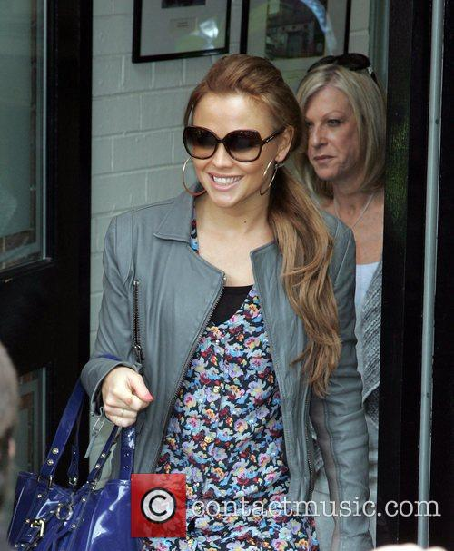 Kimberley Walsh from Girls Aloud leaving her hotel...