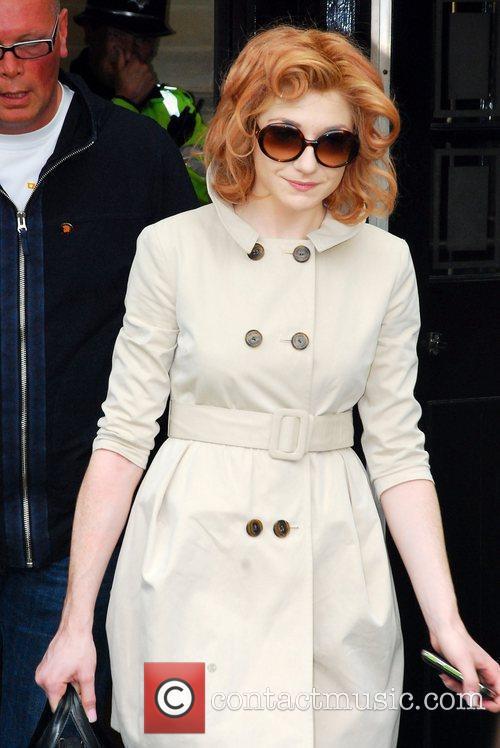 Nicola Roberts from Girls Aloud leaving her hotel...