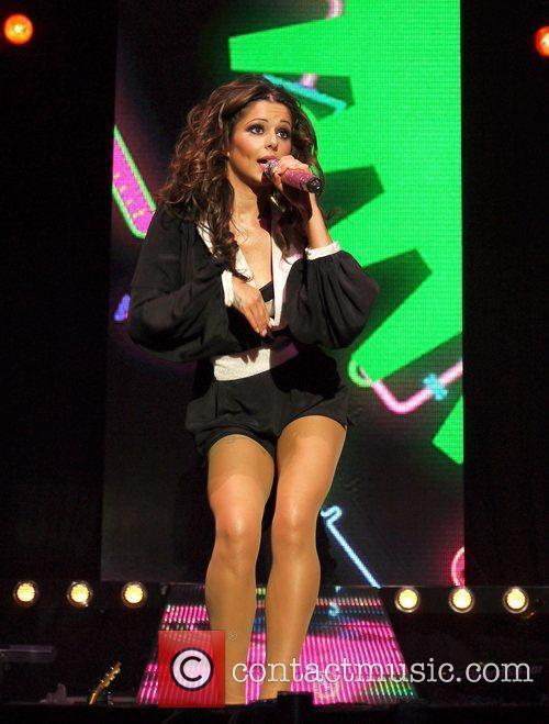 Cheryl Cole of Girls Aloud  performing live...