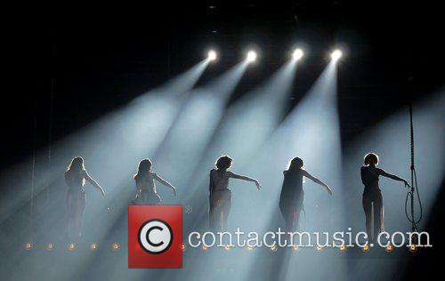 Girls Aloud  performing live in concert as...