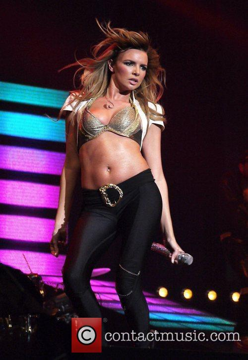 Nadine Coyle of Girls Aloud  performing live...