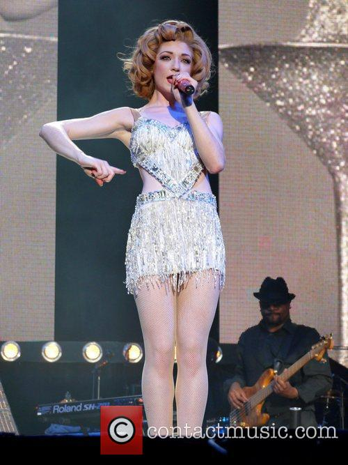 Performing live in concert as part of the...