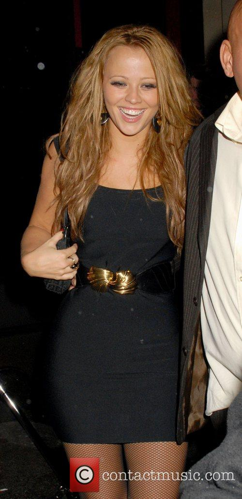 Kimberly Walsh of Girls Aloud leaving Kitts nightclub...