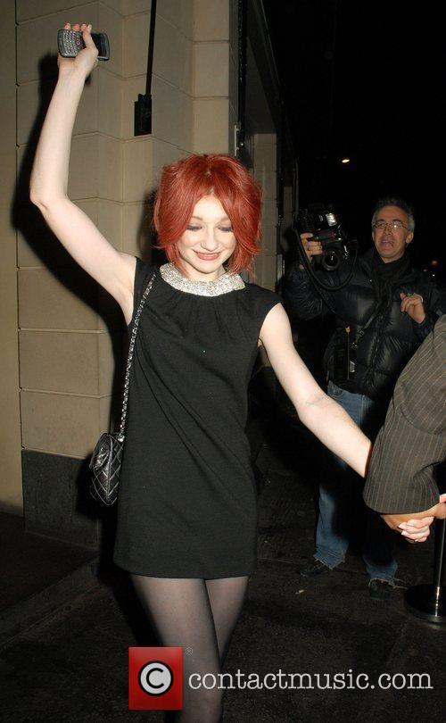 Nicola Roberts of Girls Aloud leaving Kitts nightclub...