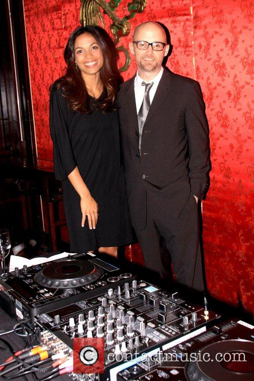 Rosario Dawson and Moby 3