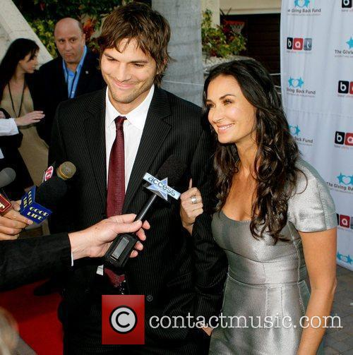 Ashton Kutcher and Demi Moore The Giving Back...