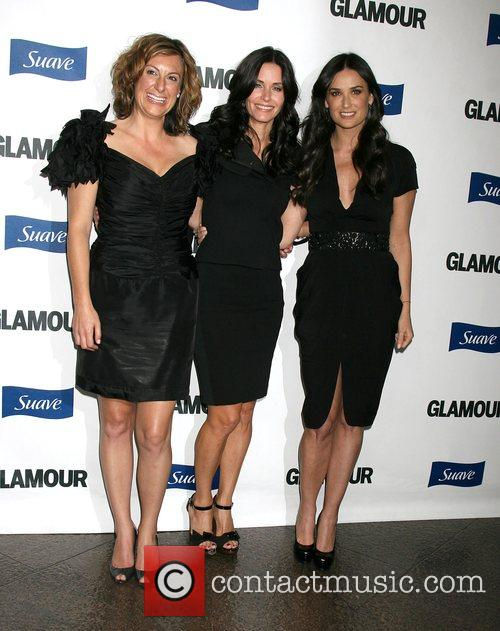 Guest, Courteney Cox Arquette and Demi Moore The...