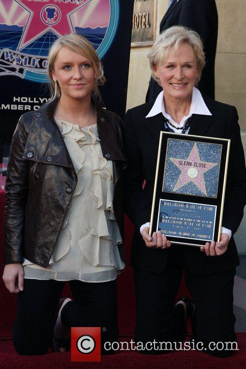 Glen Close receives the 2,378th Star on the...