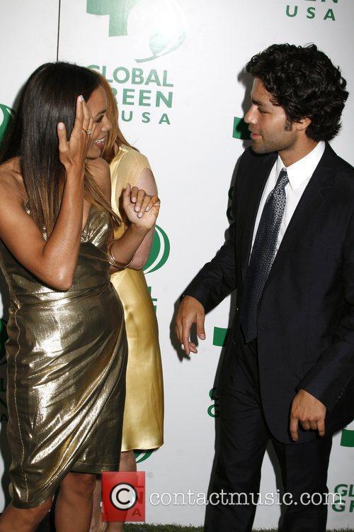 Rosario Dawson and Adrian Greneir Global Green USA...