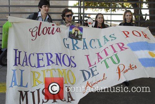 Gloria Estefan and Emilio Estefan arriving at Jorge...