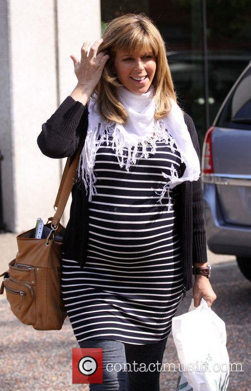 Kate Garraway leaves the GMTV studios after appearing...