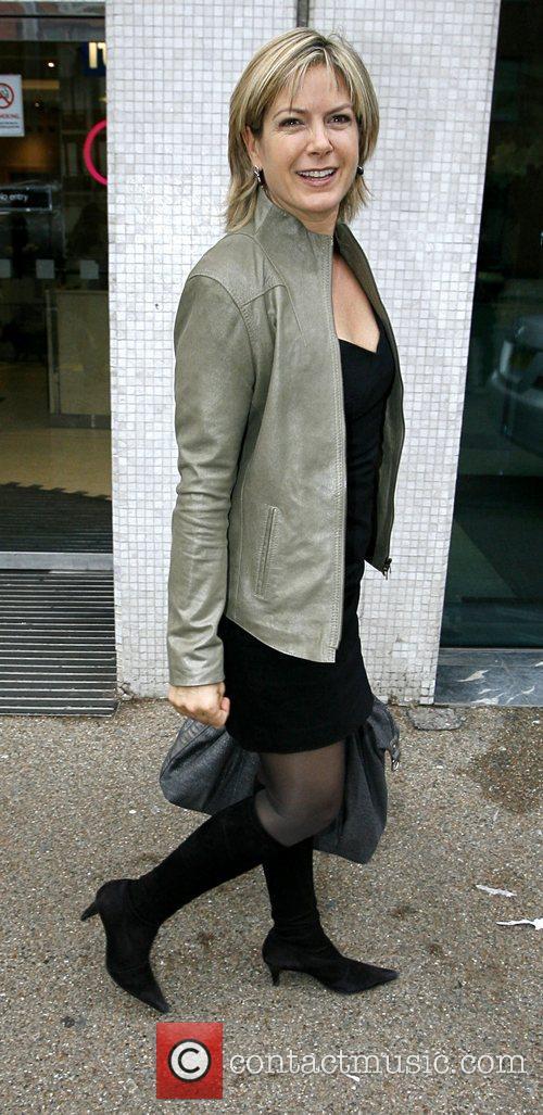 Penny Smith arrives at GMTV studios London, England