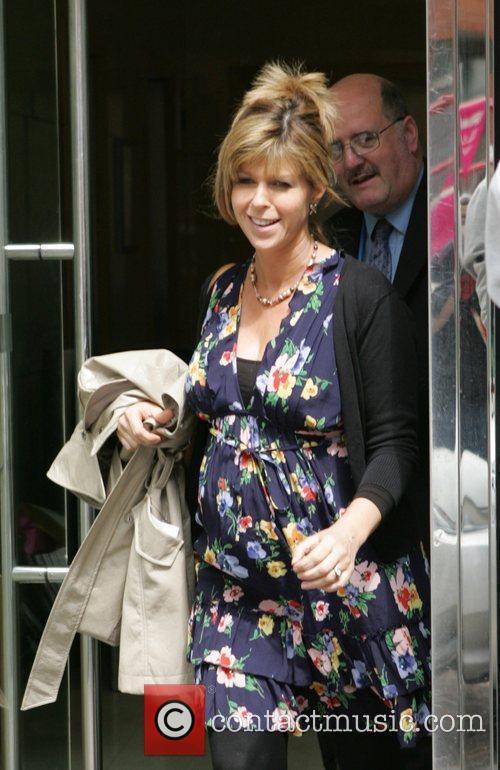 Kate Garraway leaving GMTV studios London, England
