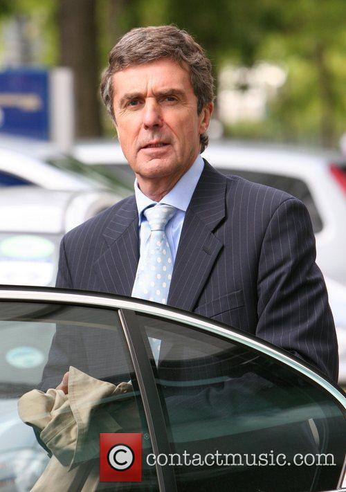 John Stapleton leaving GMTV studios London, England