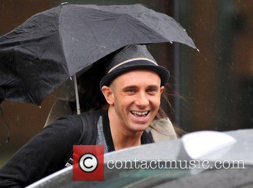 Fashion stylist Mark Hayes leaving GMTV studios under...