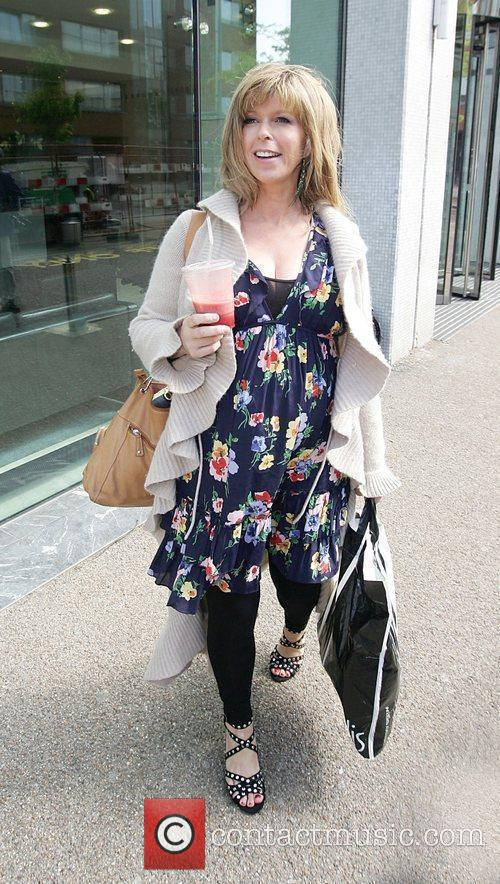 Leaving the London Studios after presenting 'GMTV'