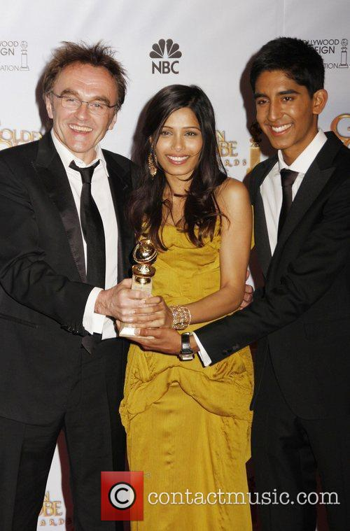 Danny Boyle, Freida Pinto and Dev Patel 3
