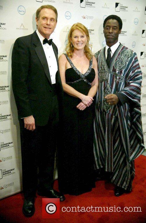 Sarah Ferguson, Duchess of York, and actor Isaiah...