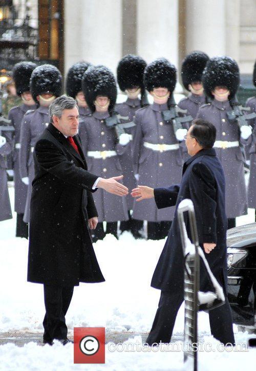 British PM Gordon Brown meets Chinese PM Wen...