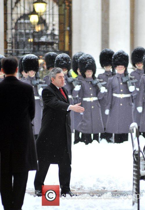 Chinese PM Wen Jiabao meets British PM Gordon...