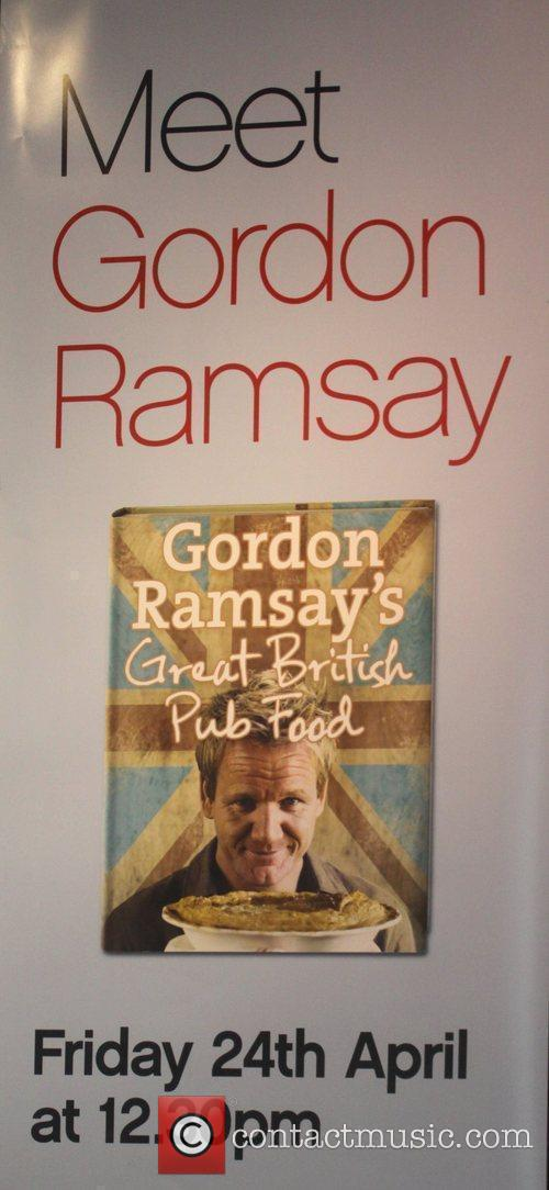 Waterstones in central London where Gordon Ramsay attended...