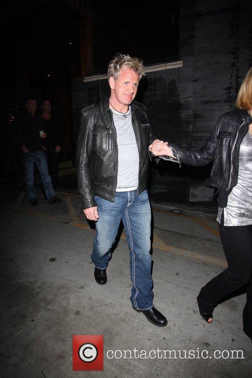 Gordon Ramsay and Tana Ramsay leaving Nobu in...