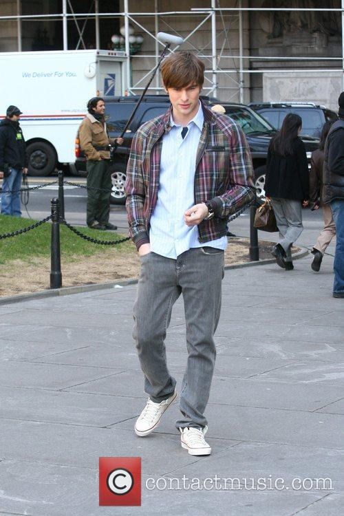 Chace Crawford The cast of 'Gossip Girl' filming...