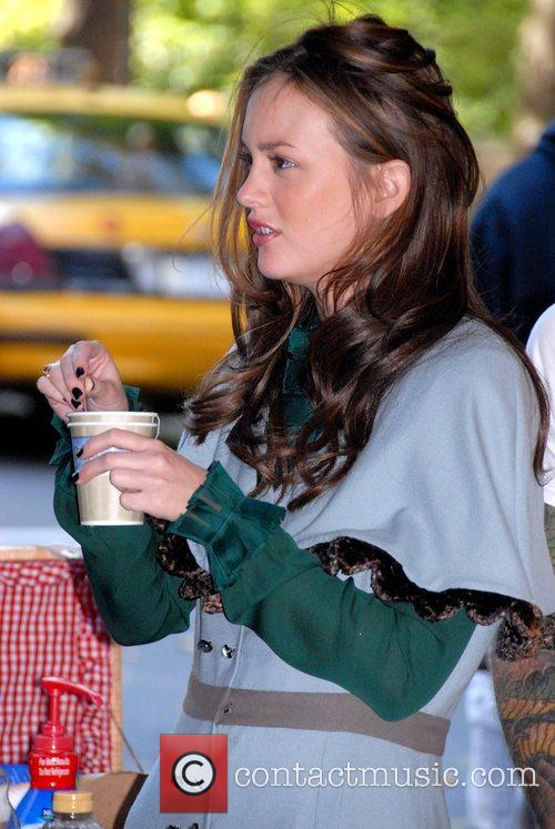 On location filming the CW series 'Gossip Girl'
