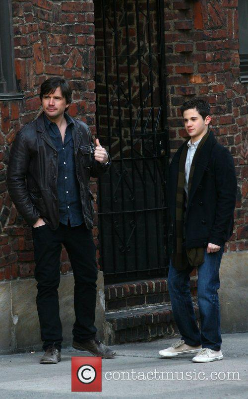 Matthew Settle and Connor Paolo filming on the...