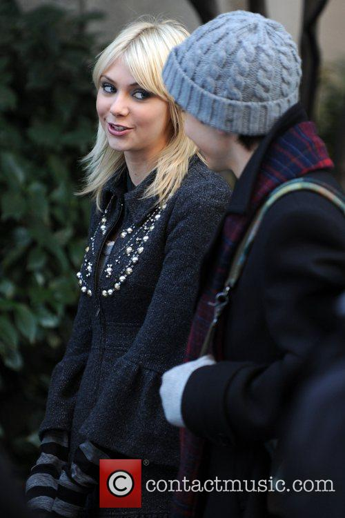 On the set of her show 'Gossip Girl'...