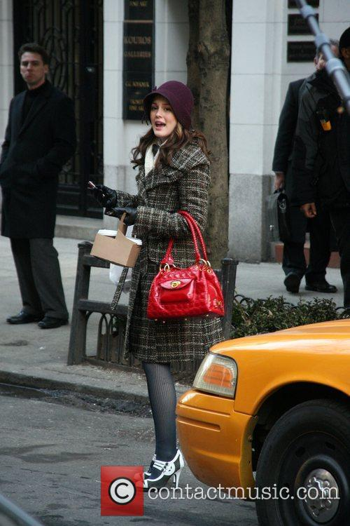Filming on the set of 'Gossip Girls'