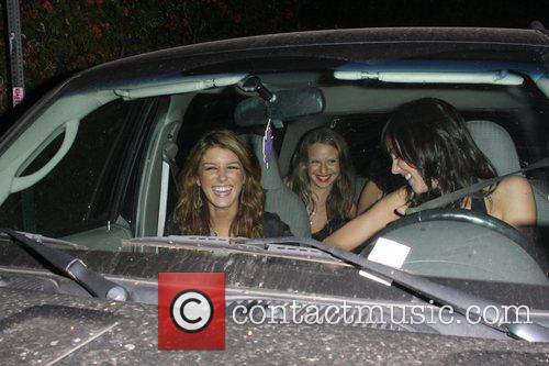 Shenae Grimes and Friends Are All Smiles As They Beg Photographers To Back Away From There Car 1