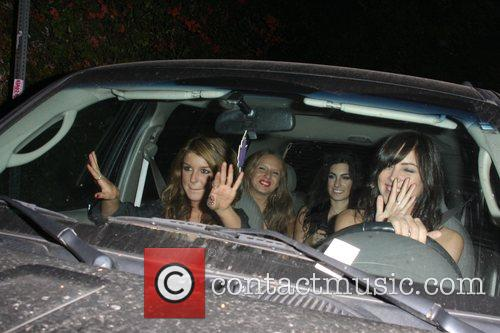 Shenae Grimes and Friends Are All Smiles As They Beg Photographers To Back Away From There Car 3