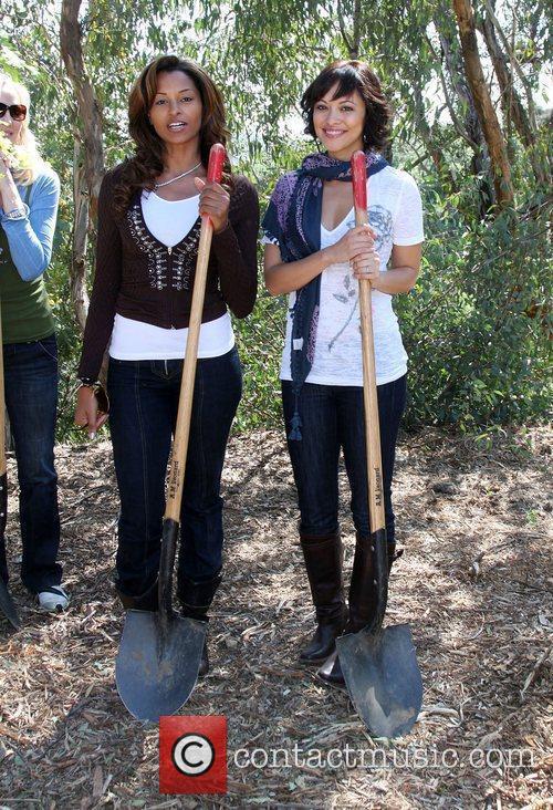 Claudia Jordan and Marisa Ramirez The Green Hollywood...