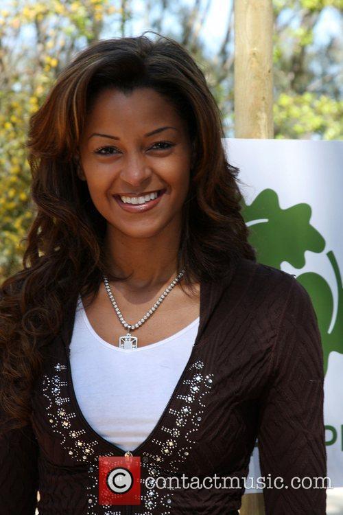 Claudia Jordan The Green Hollywood Tree Planting at...