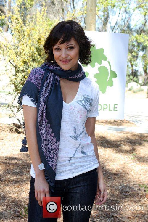 Marisa Ramirez The Green Hollywood Tree Planting at...