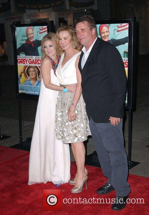Drew Barrymore, Jessica Lnage and Daniel Baldwin Los...