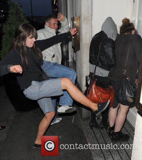 Pixie Geldof, a friend are huddled in a corner while a group of drunks start to hurl abuse, attempt to kick and punch the pair. Pixie was leaving Groucho Club after a night out with friends at 5.30am. 6